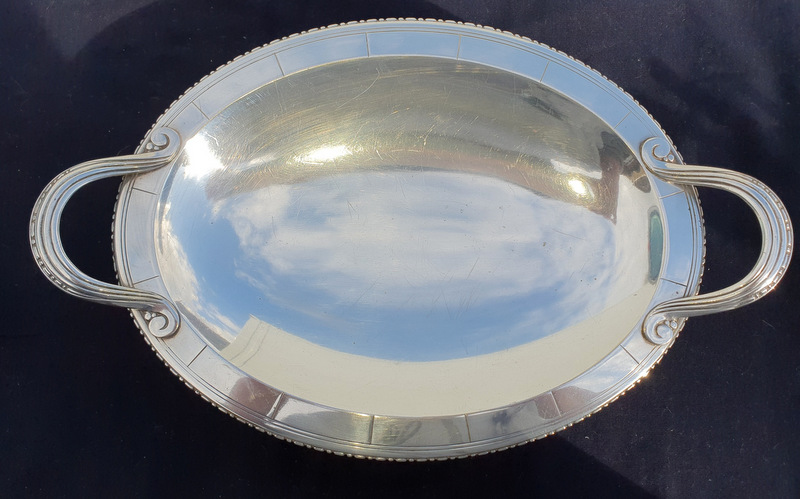 COUPE METAL ARGENTE ART DECO /PLATED SILVER BOWL ART DECO
