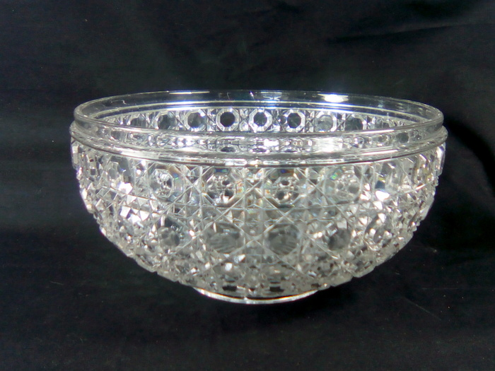 SALADIER BACCARAT POINTE DE DIAMANT / BOWL BACCARAT DIAMOND CUT
