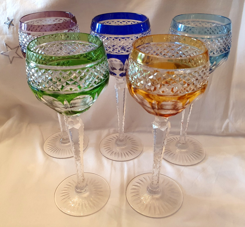 5 VERRES TRIANON ST LOUIS /5 GLASSES ST LOUIS