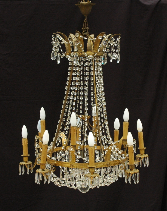 LUSTRE MONTGOLFIERE STYLE EMPIRE / MONTGOLFIERE LUSTER EMPIRE STYLE