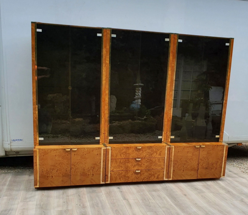BIBLIOTHEQUE WILLY RIZZO 1970/ WILLY RIZZO BOOKCASE 70'S