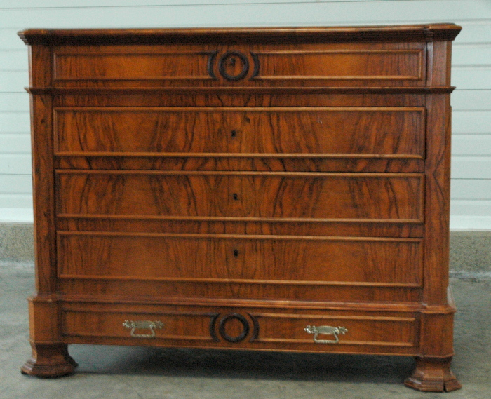 COMMODE LOUIS PHILIPPE MERISIER FLAMME / LOUIS PHILIPPE CHEST OF DRAWERS