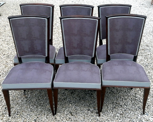 6 CHAISES VINTAGE PRUNE / 6 VINTAGE CHAIRS PURPLE COLORS